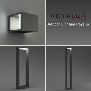 outdoor lighting royalux 3d model