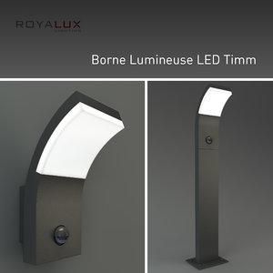 3d outdoor lighting borne lumineuse