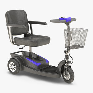 electric wheelchair rigged 3d max