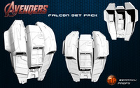 falcon jet pack 3d model