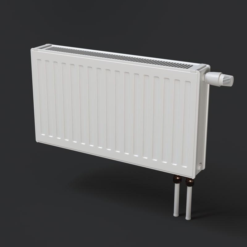 3d heating radiator model