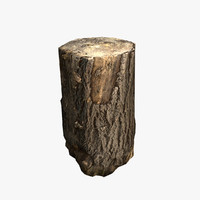 3d wood log model