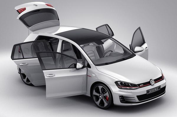 3d model car doors gti