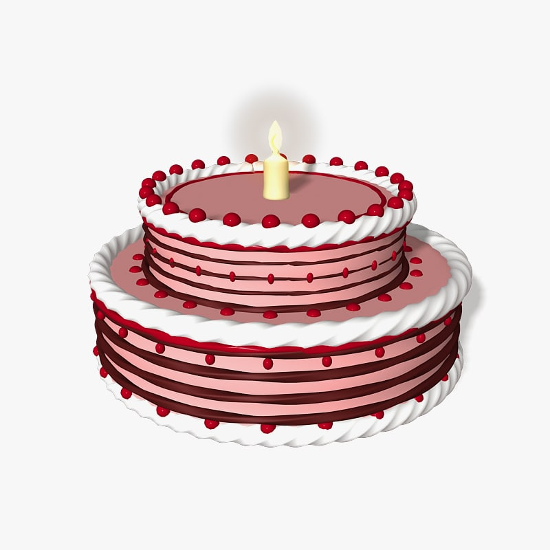 Birthday Cake Images Hq : birthday cake 3d model