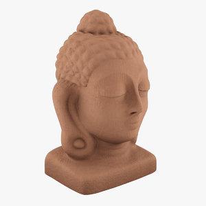 3d model buddha head