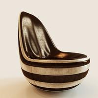 3d armchair soft model
