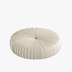 3d 3ds pouf poplar upholstery