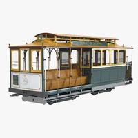 3d model cable car