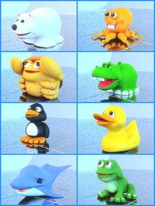rubber toys 3d model