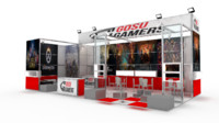 exhibition stand design 3d fbx