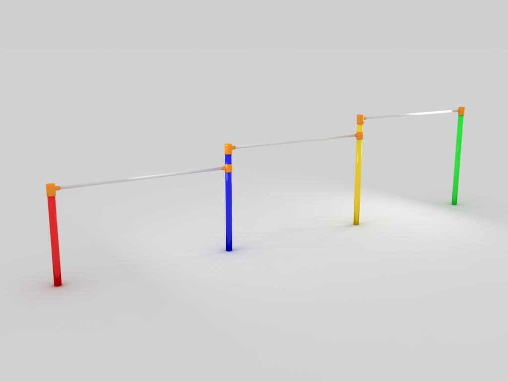 horizontal bar 3d model