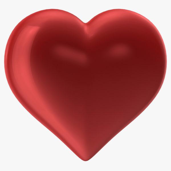 x heart shiny red v3