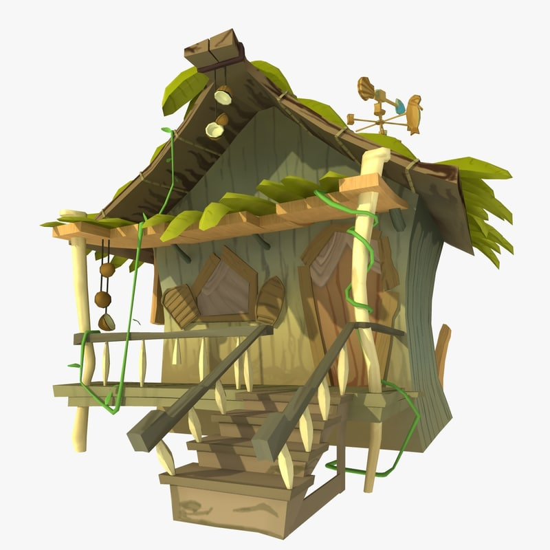 Jungle Hut: Jungle Hut 3d Model