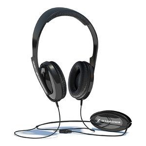 3d sennheiser hd 202 headphones