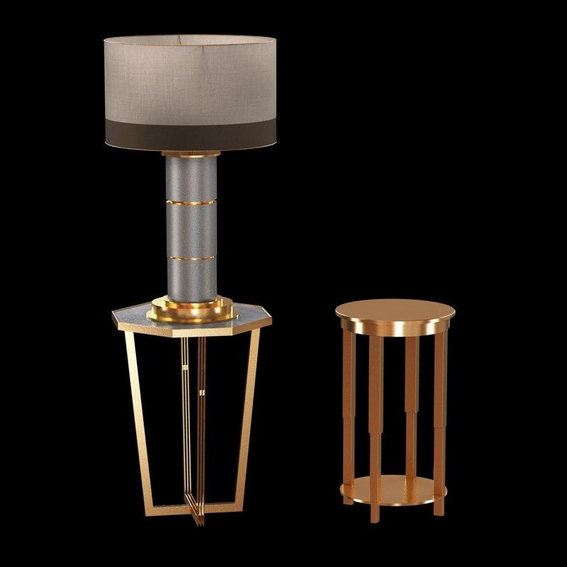 max custom table brass end