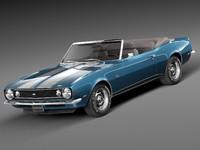 1967 convertible chevrolet 3d max