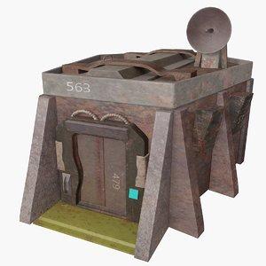 3d model of sci fi bunker
