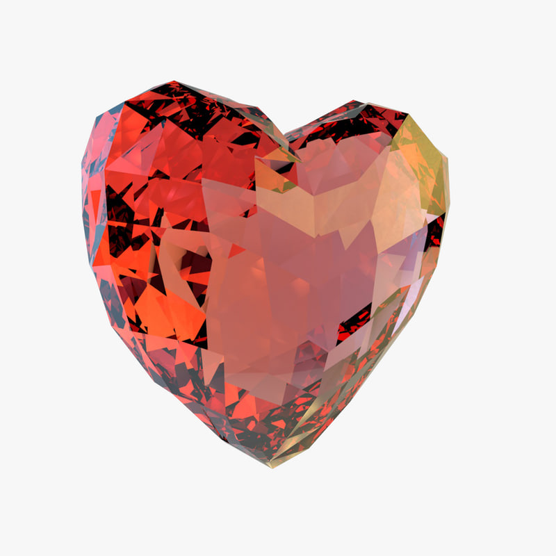 crystals heart 3ds