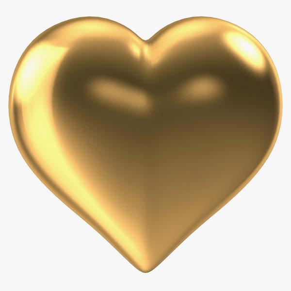 heart gold v3 3d model