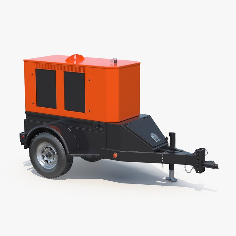 3d model mobile diesel generator
