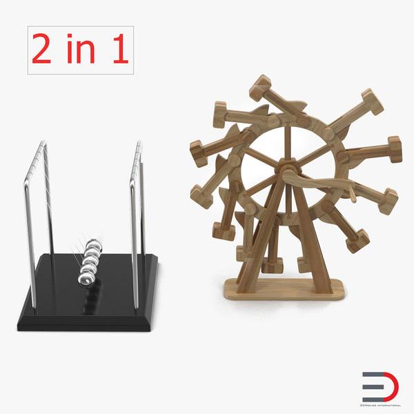 perpetual motion machines 3d obj
