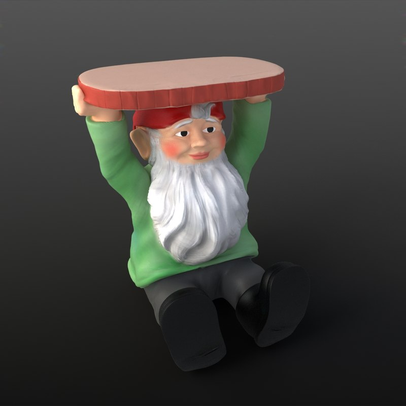gnome night stand 3d max