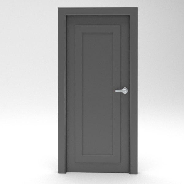 door blender 3d 3ds