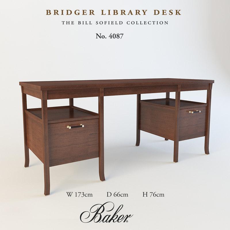 bridger library desk obj