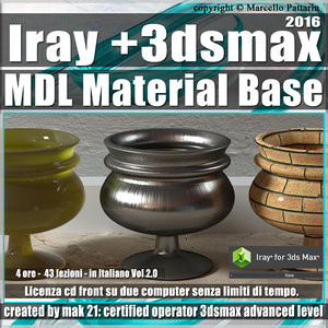 Iray + in 3dsmax 2016 MDL Material Base Vol 2.0 Cd Front