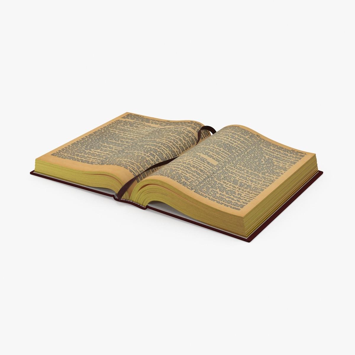 3d open bible