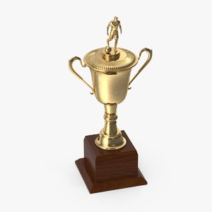 soccer trophy 3d c4d