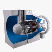 3d model turbine capsular
