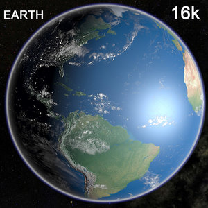 3d model earth clouds
