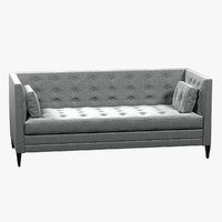 "CLANCY 86"" TUFTED UPHOLSTERED SOFA IN VANGOGH FOG"