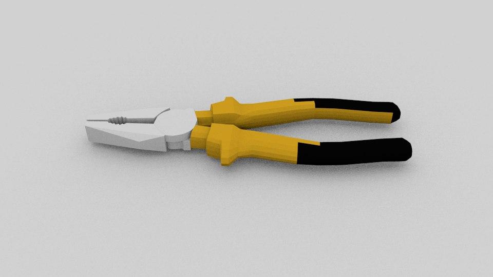 pliers 3d model