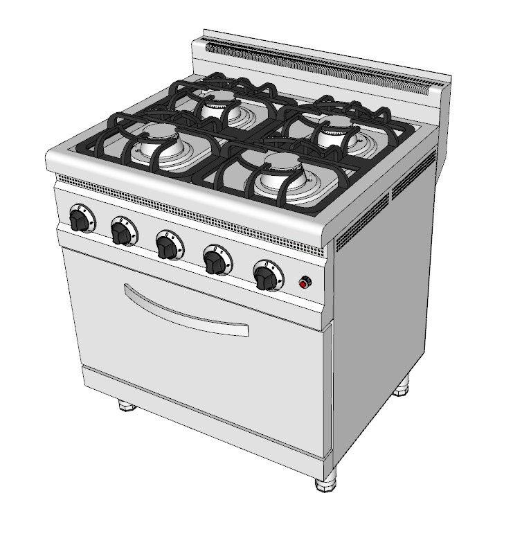 gas ranges 3d model