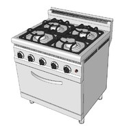 gas ranges 3d model