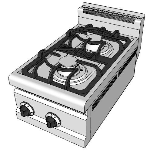 gas boiling tops 3d model