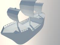 modelled pirate ship 3d model