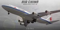 3d model boeing 747-8 air china