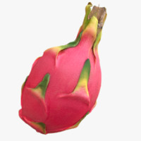 scaned dragonfruit pitaya 3d max
