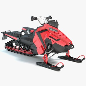 snowmobile snow mobile 3d model