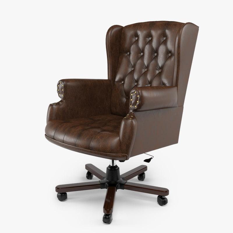 3d armchair swivel