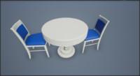 3d model chairs desk 2