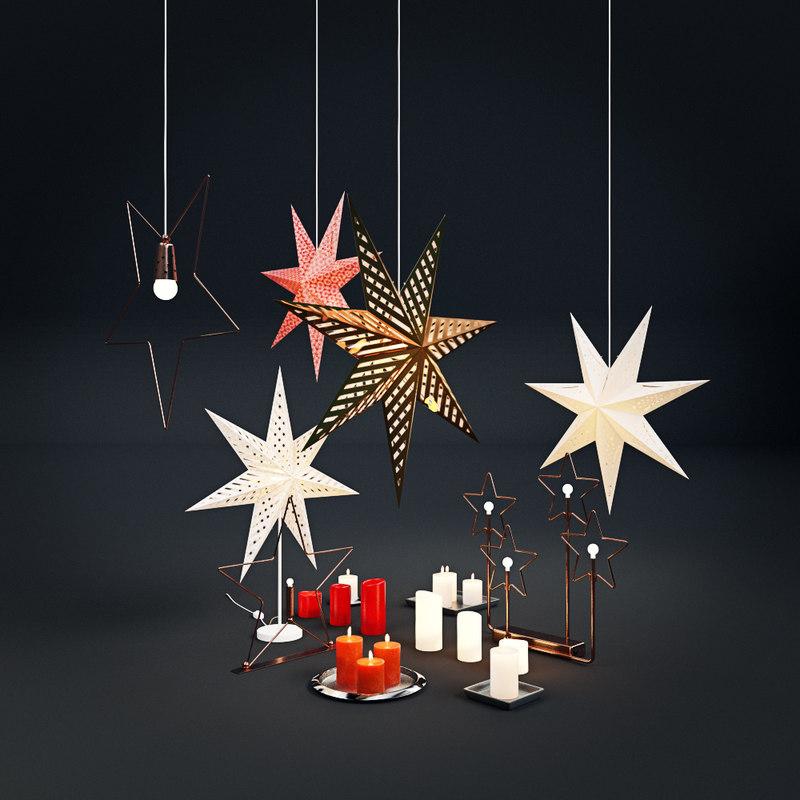 christmas decorations ikea 3d obj
