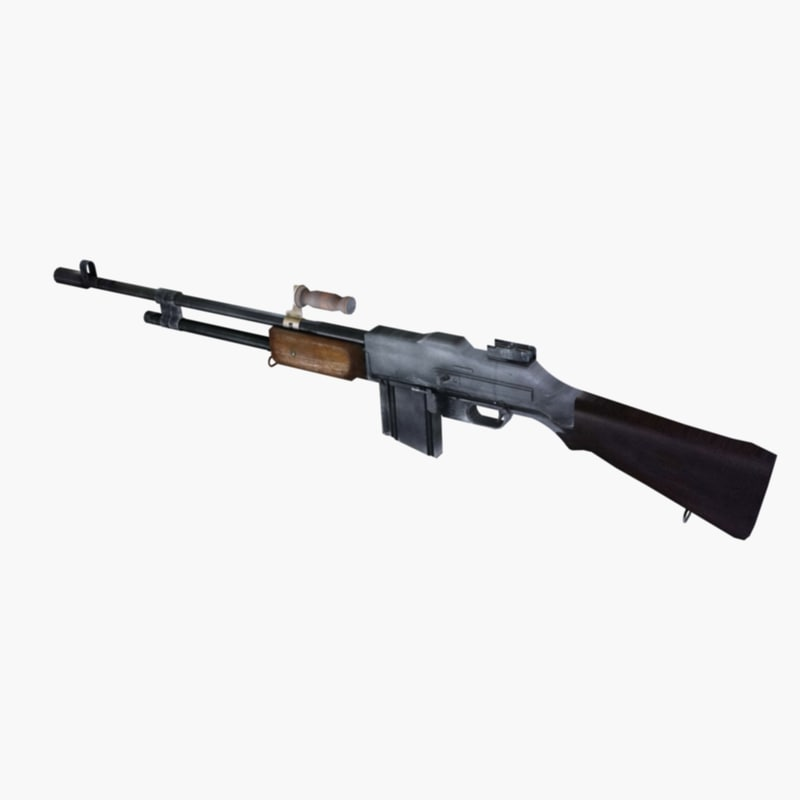 3d browning automatic rifle model