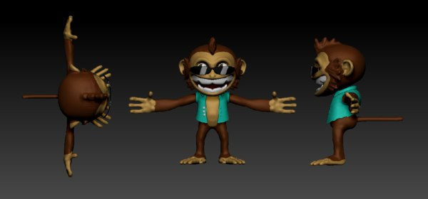 obj monkey