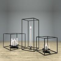 3d model cube candle holder set