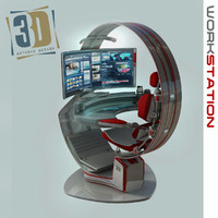 3d model work workstation
