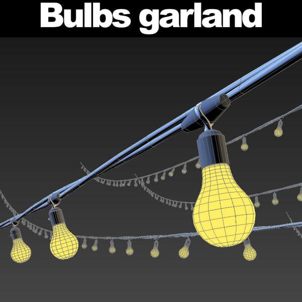 garlands lights 3d model